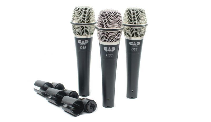 CAD Audio D38 3-Pack of CADLive D38 Microphones