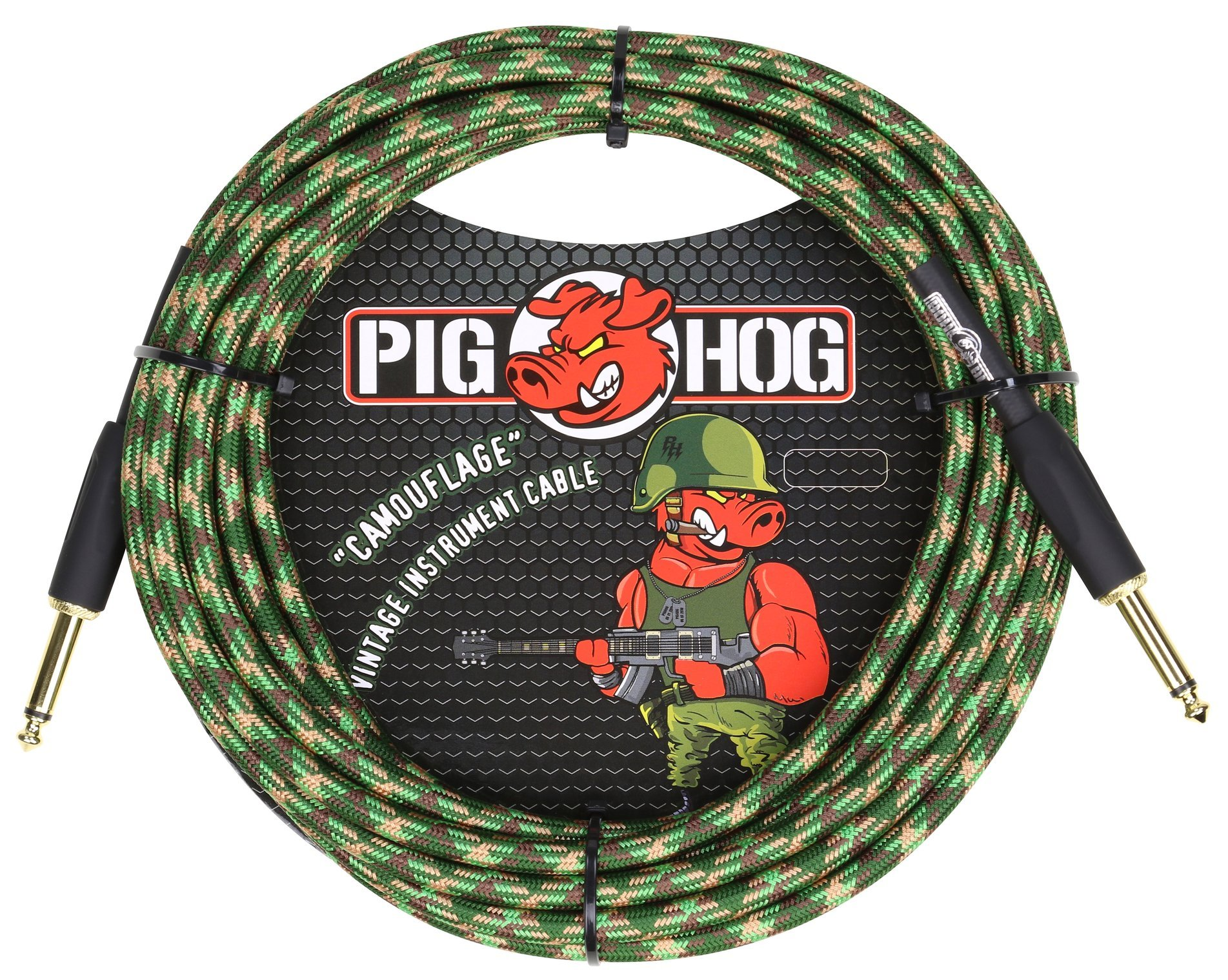 Pig Hog Camouflage Braided Instrument Cable - 20ft