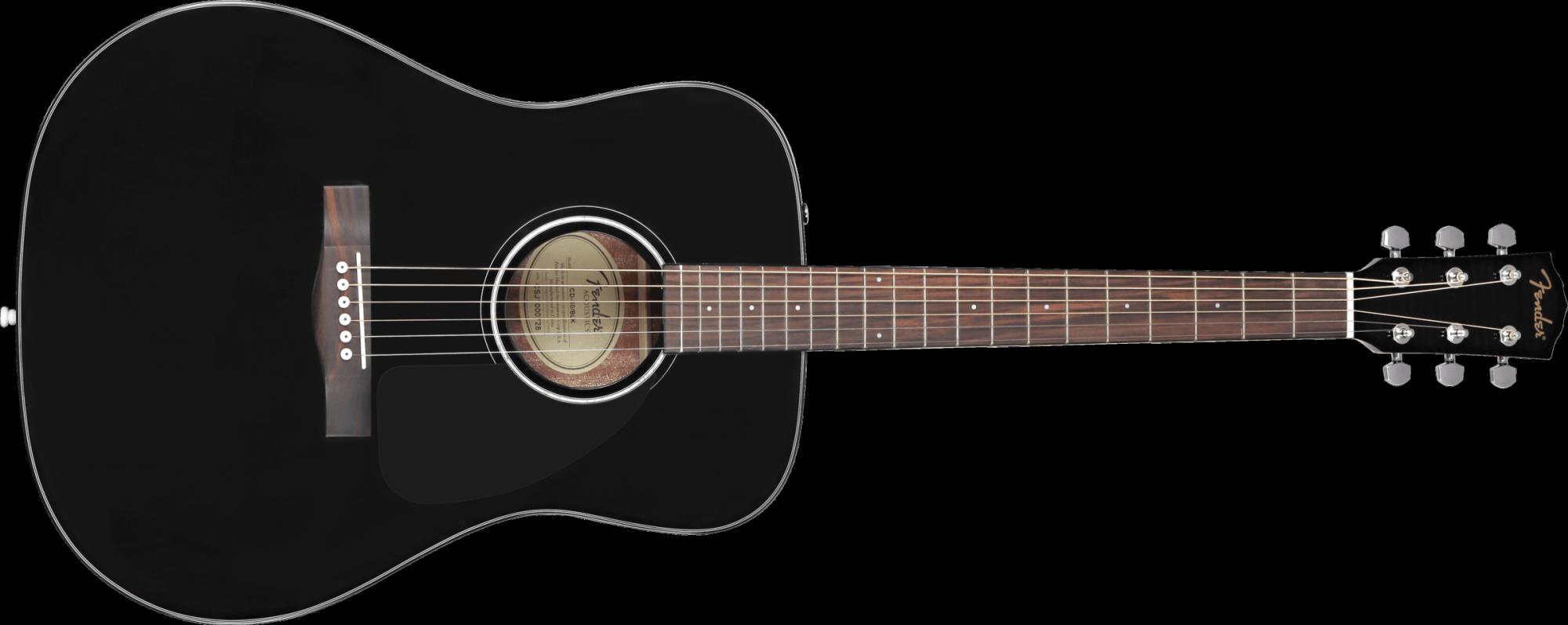Fender CD-60 Classic Design Acoustic Guitar Black