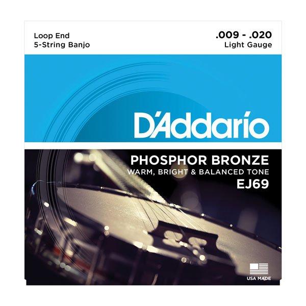 D'Addario EJ69 Phosphor Bronze Light 5-String Banjo Strings