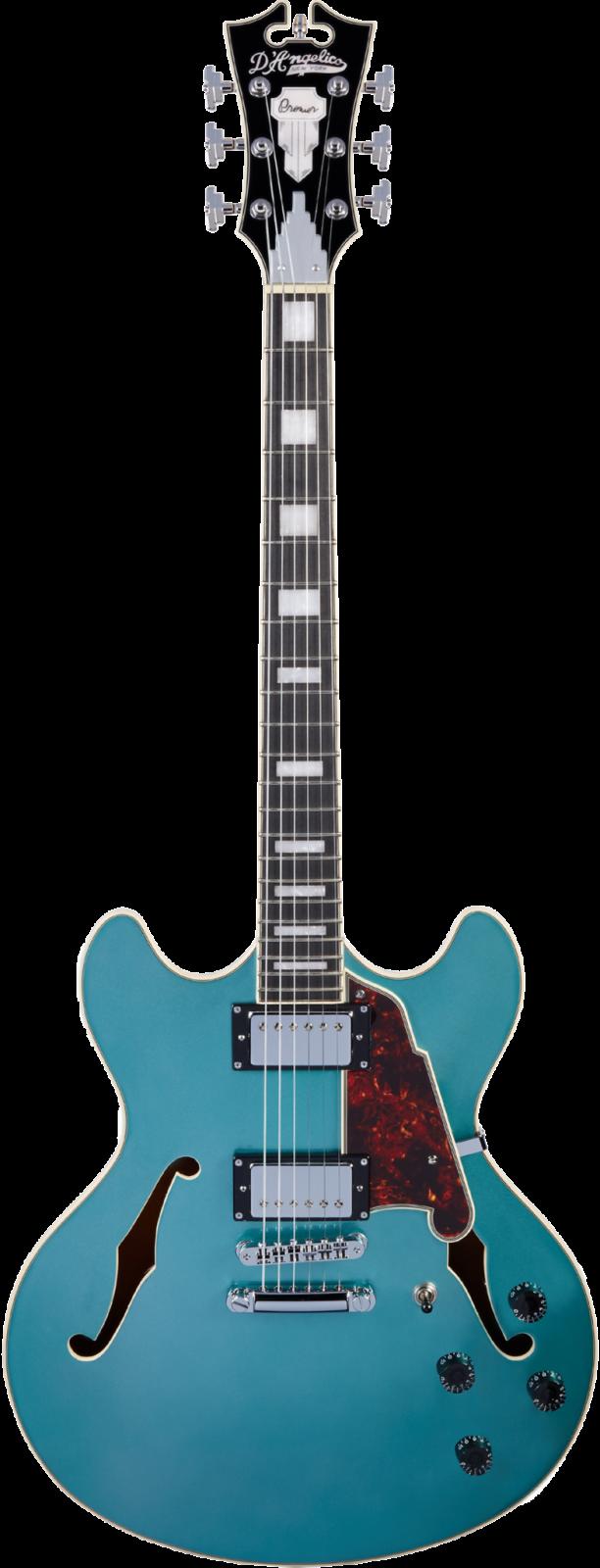 D'Angelico Premier DC Double-Cut Semi-Hollow - Ocean Turquoise
