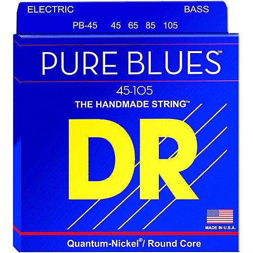 DR Strings PB-45 Pure Blues Medium 4-String Bass Strings 45-105