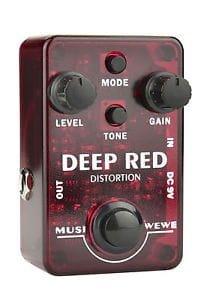 Deep Red Distortion Guitar Effect Pedal