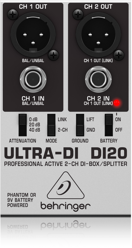 Behringer Ultra-DI DI20 2 Channel Active Direct Box / Splitter