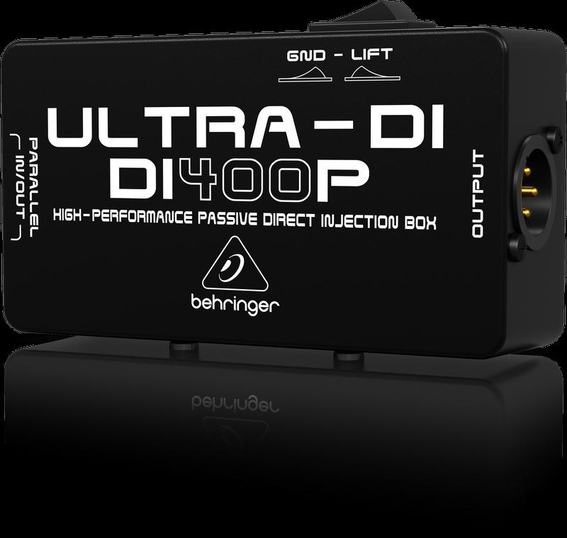 Behringer Ultra-DI DI400P 1-channel Passive Instrument Direct Box