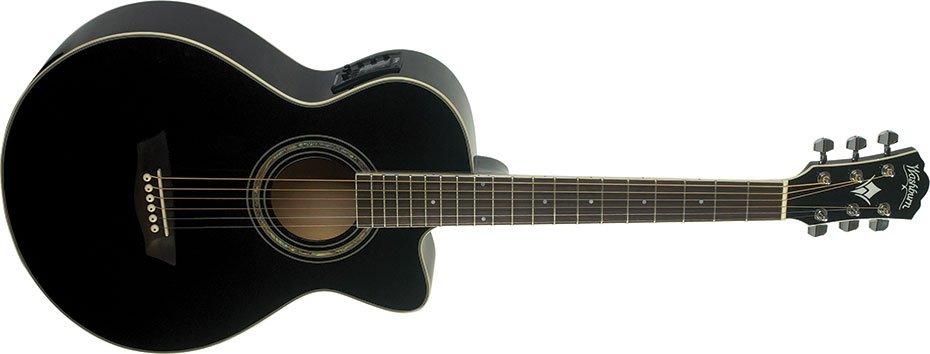 Washburn EA10 Festival Acoustic Electric Guitar - Black
