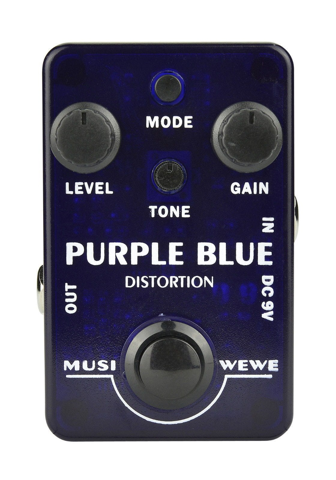 Purple Blue Guitar Distortion Pedal