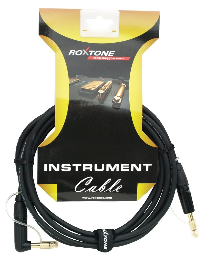 Roxtone Pro Series Instrument Cable - Right Angle