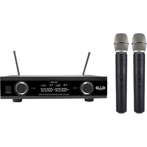 CAD GXLD2HH Digital Dual-Channel Handheld Wireless Microphone System