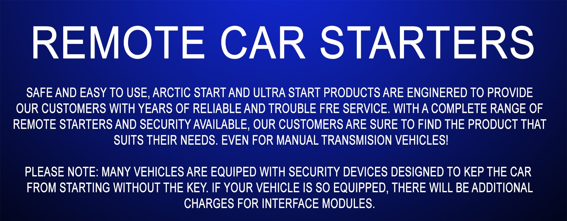 Remote Car Starters Auto Mobile Starter Kit 6 Benefits To Having An Arctic Start System Installed