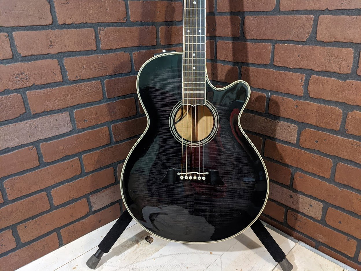 Takamine EF 591 ME Flamed Maple Made In Japan Acoustic Electric Guitar - 1984