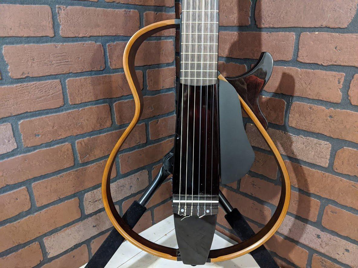 Yamaha SLG200N 6-string Silent Nylon-string Classical Guitar - Trans Black - DEMO