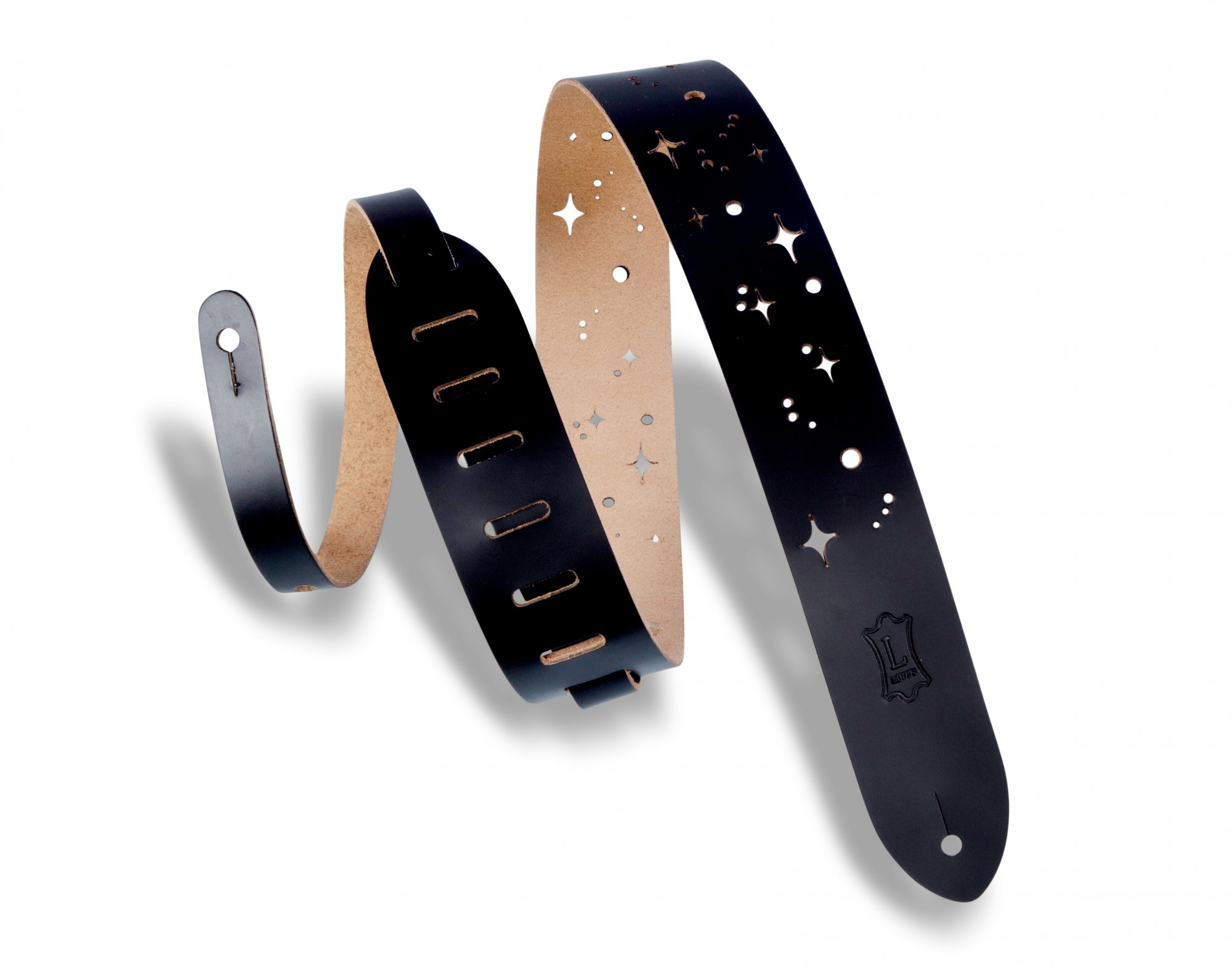 Levy's Galaxy Punch Out Guitar Strap - M12GSC-BLK