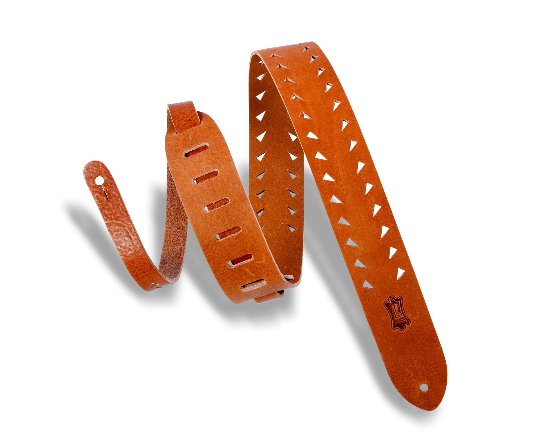 Levy's Tiger Tooth Punch Out Premier Guitar Strap - M12TTV-TAN