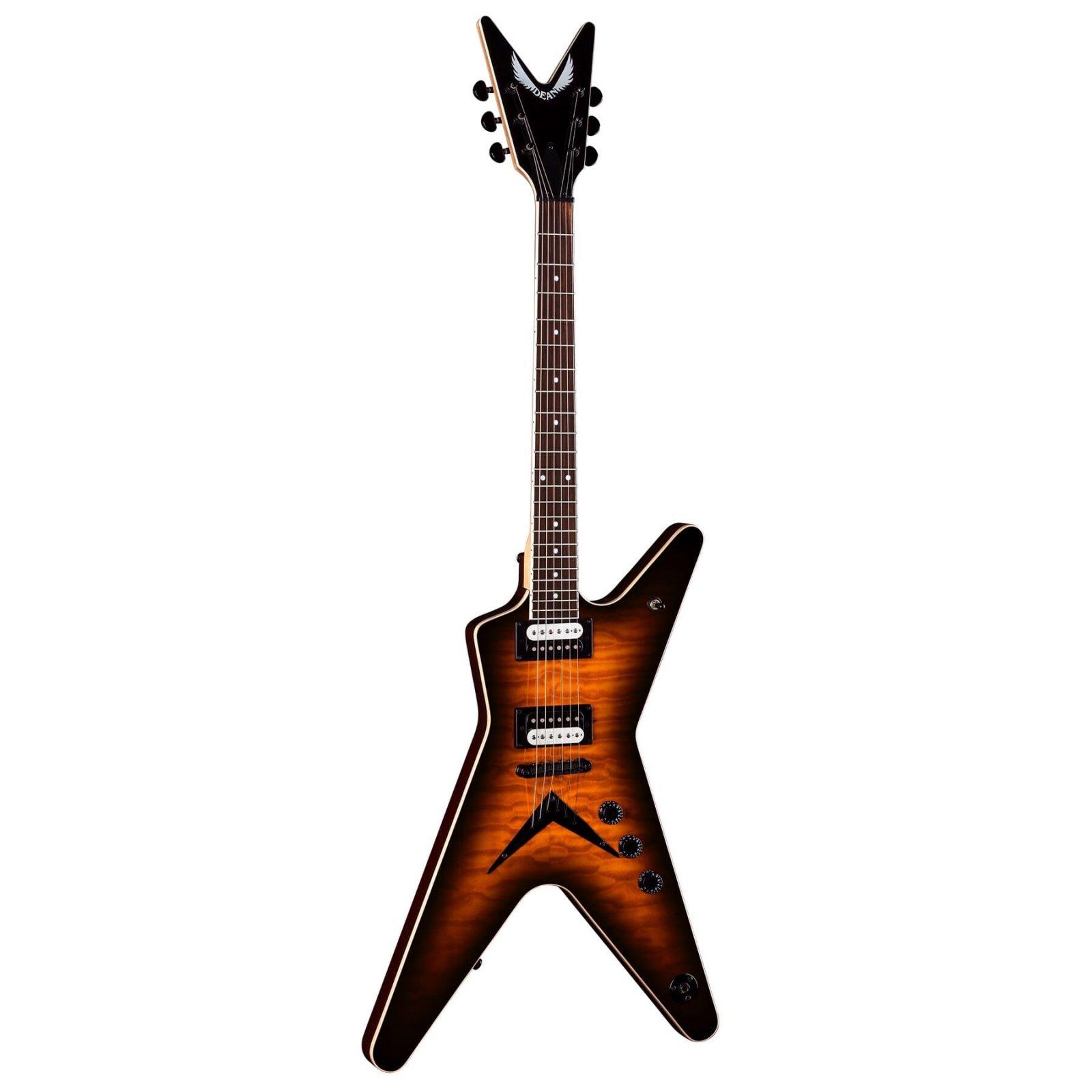 Dean MLX Quilt Maple Electric Guitar - Trans Brazilia