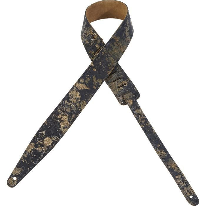 Levy's Veg-Tan Navy Leather Guitar Strap