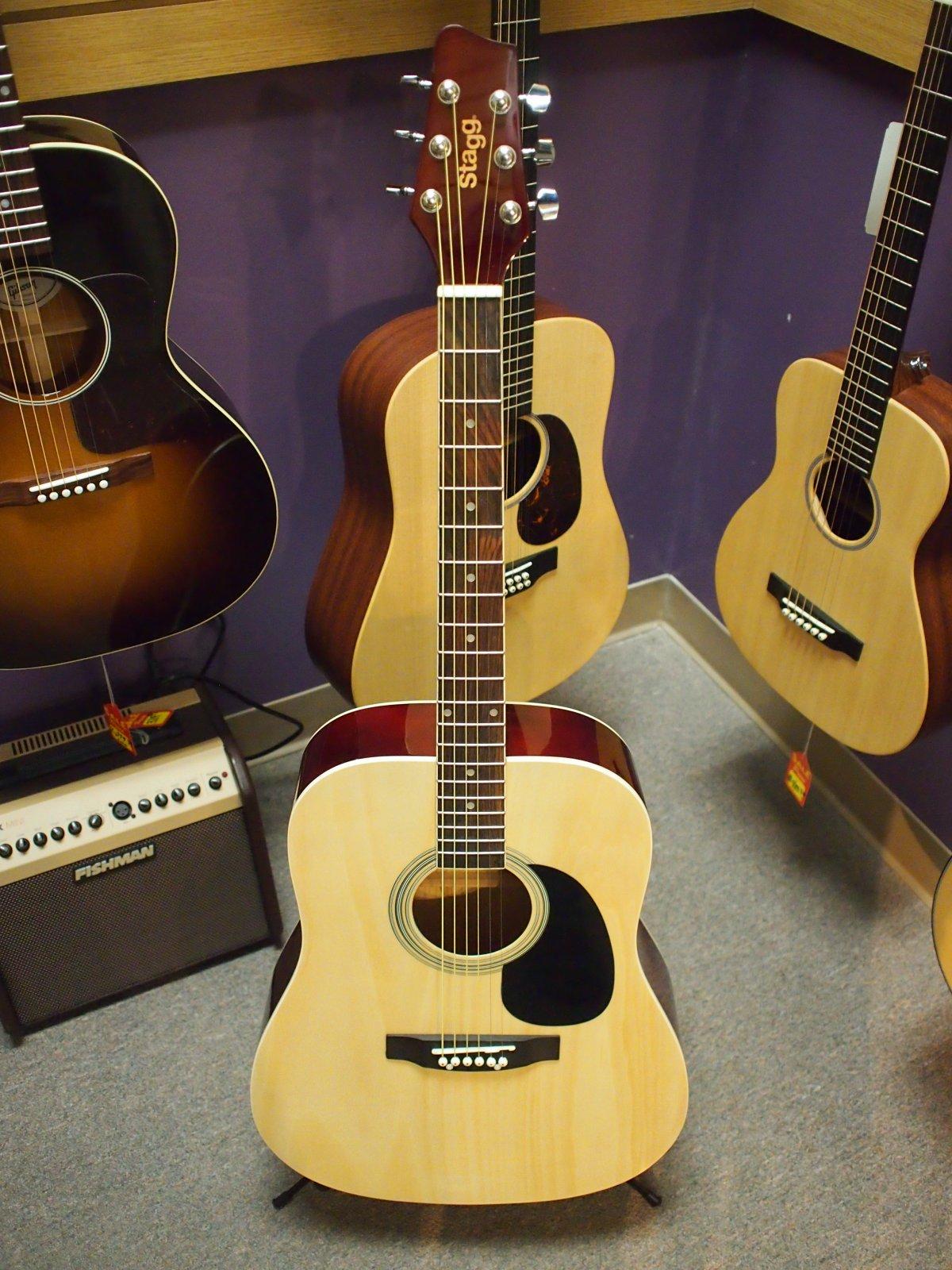 Big Apple Music Acoustic Guitar - Natural