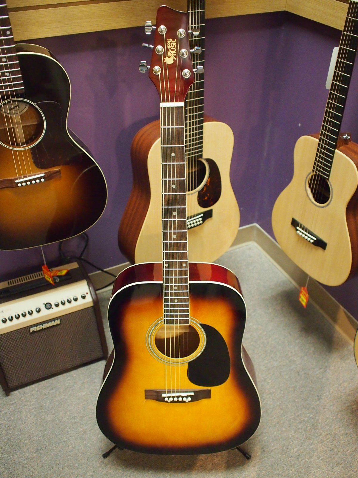 Big Apple Music Acoustic Guitar - Sunburst