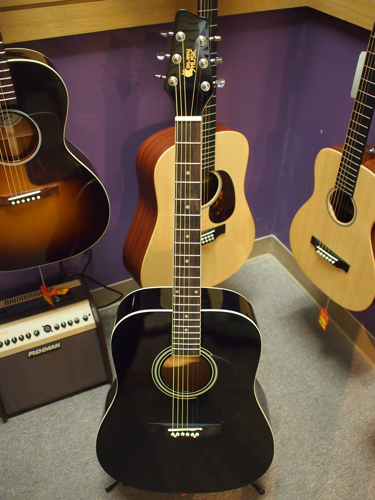 Big Apple Music Acoustic Guitar - Black