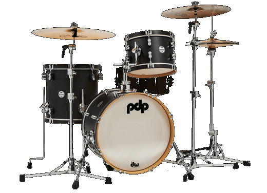 PDP Concept Maple Classic 3-piece Drum Kit with 18 Bass - Ebony Stain