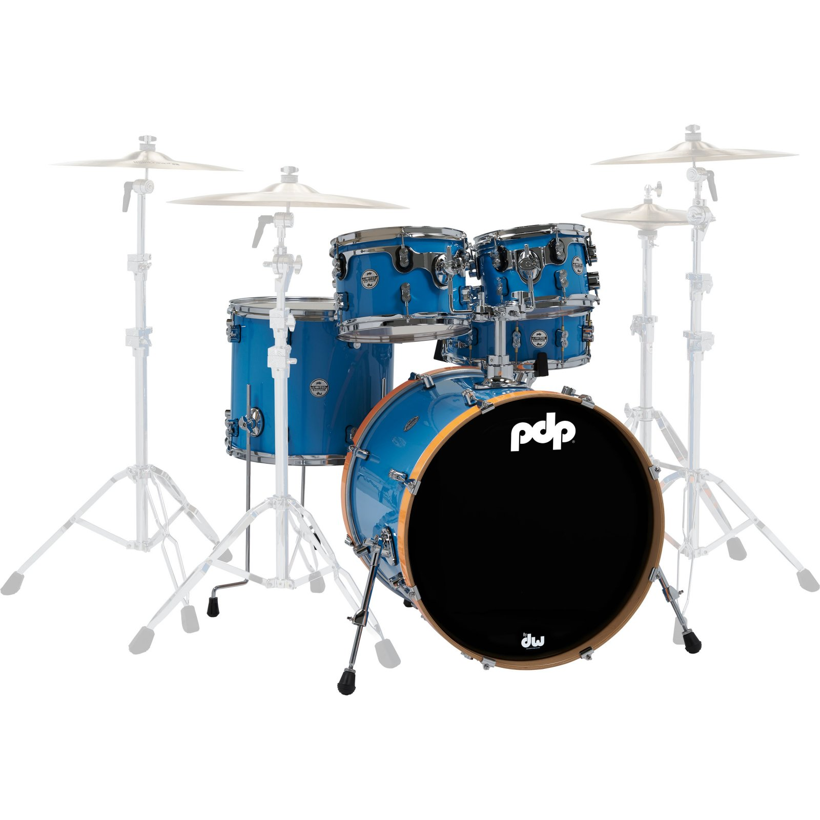 PDP Limited Edition 5-piece Shell Pack - Blue/Orange