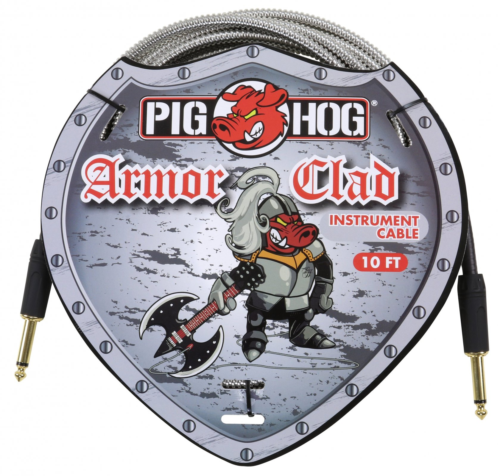 Pig Hog Armor Clad Instrument Cable - 10ft