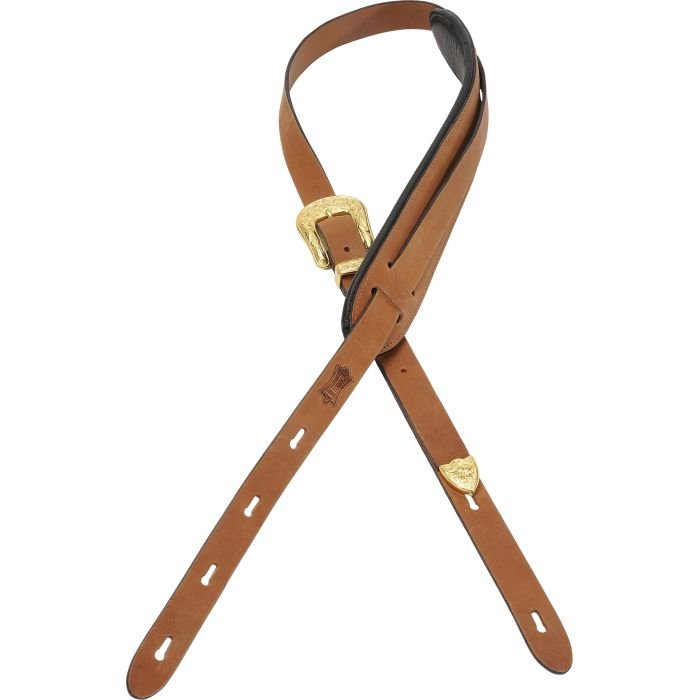 Levy's Western Buckle Veg-Tan Leather Guitar Strap