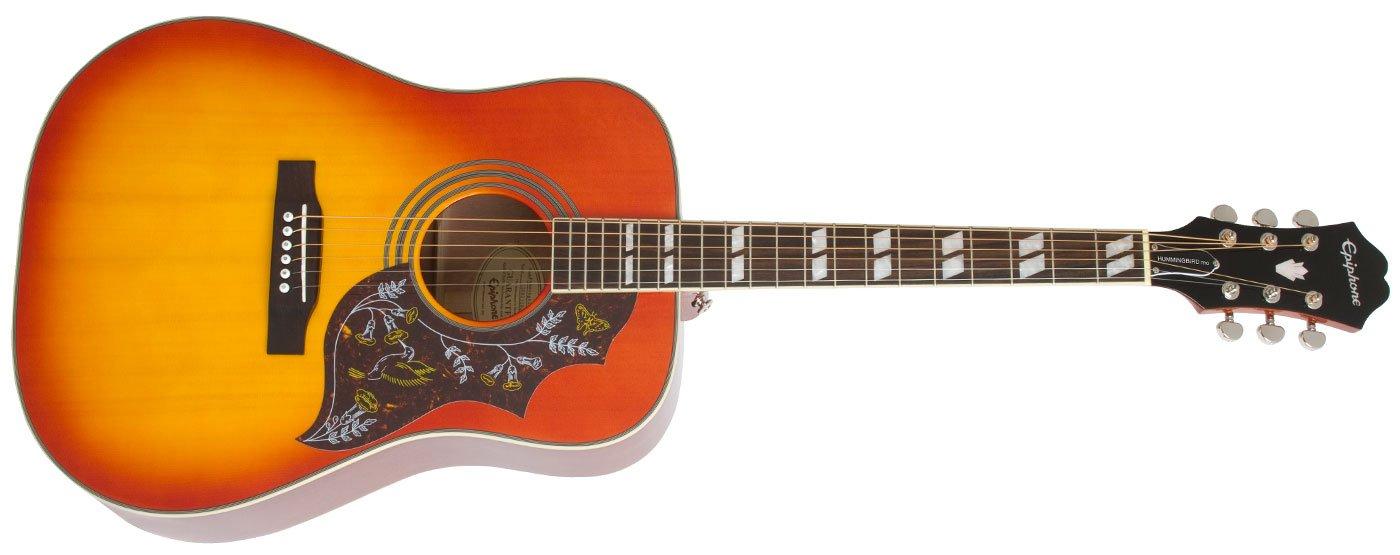 Epiphone Hummingbird Pro Acoustic Electric - Faded Cherry Sunburst