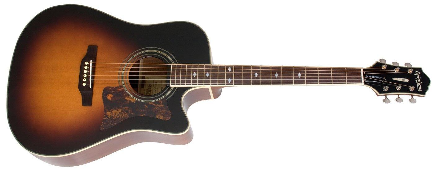 Epiphone Masterbilt DR-500MCE Acoustic Guitar - Vintage Sunburst