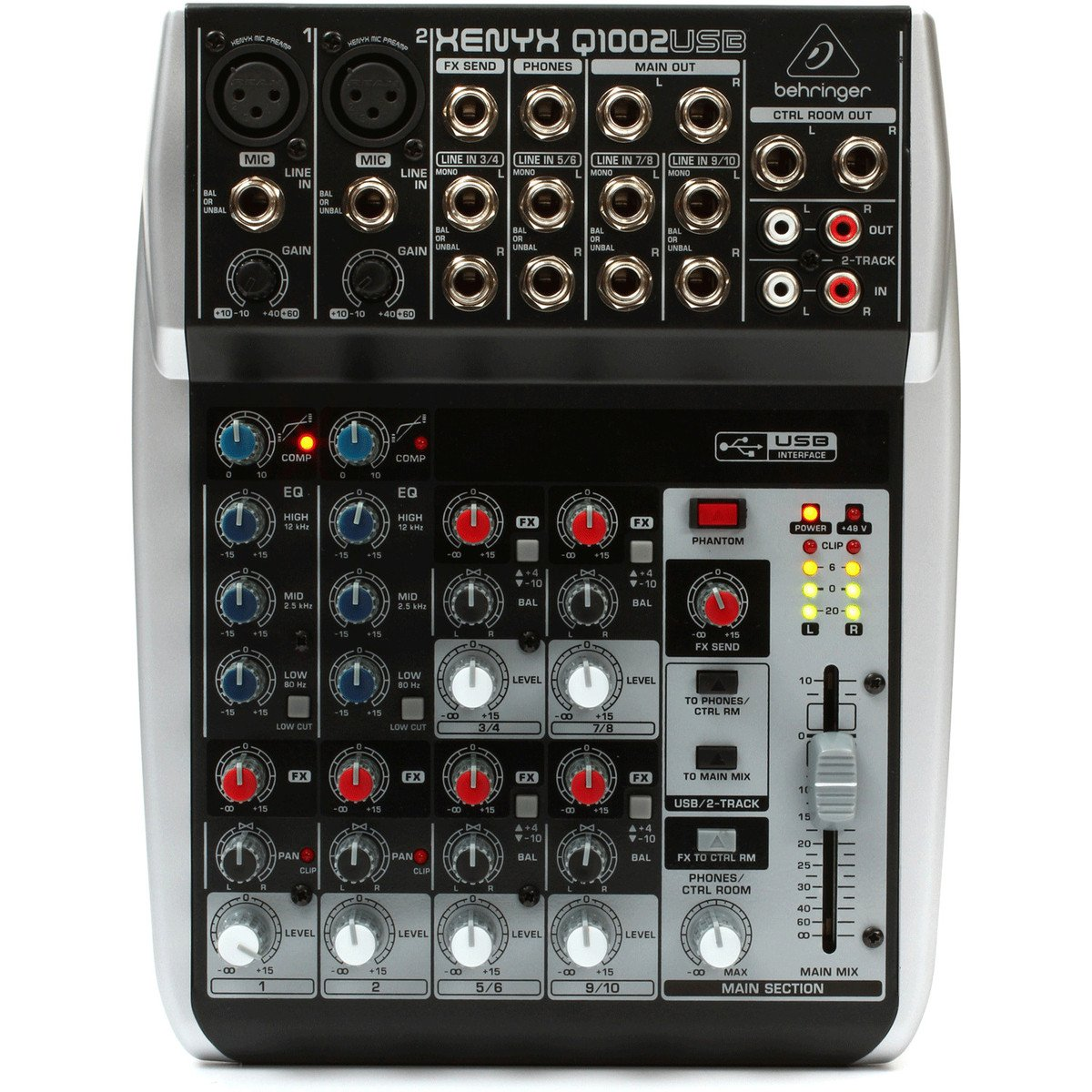 Behringer XENYX Q1002USB 10-Input 2-Bus Mixer