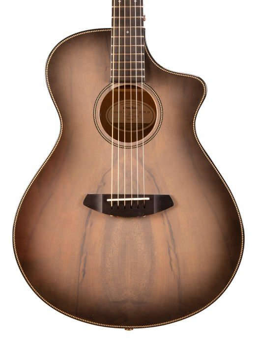 Breedlove Pursuit Exotic Concert Ghost CE Acoustic Electric Guitar - Myrtlewood Body - Ghost Burst