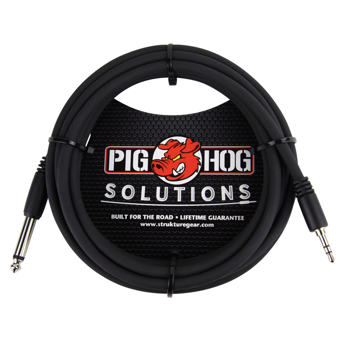 Pig Hog PX-35T4M 3.5mm TRS - 1/4 Mono 10ft Cable
