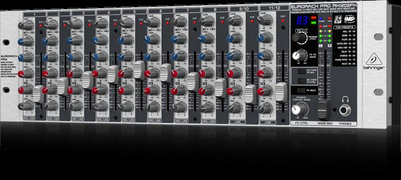 Behringer EURORACK PRO RX1202FX 12-Input Mic/Line Rack Mixer