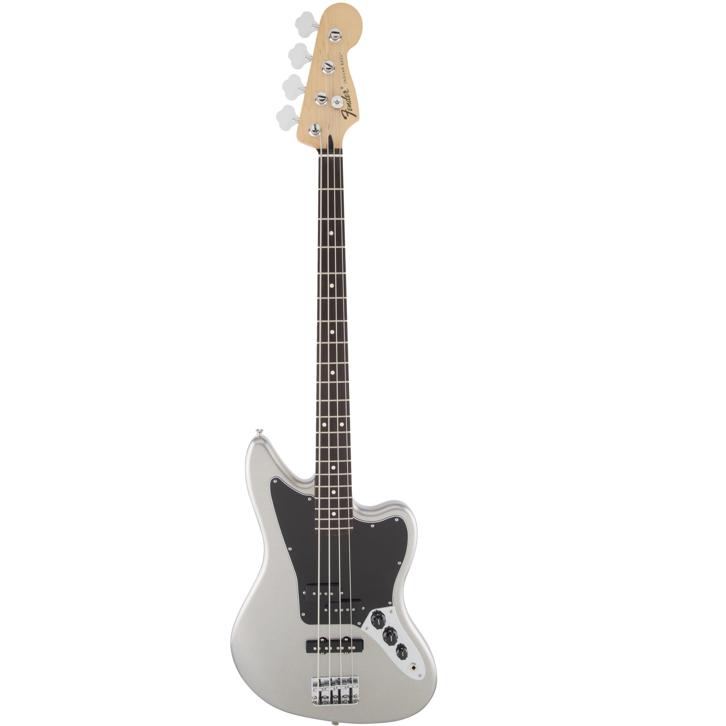 Fender Standard Jaguar Bass Electric Bass Guitar   -  Ghost Silver