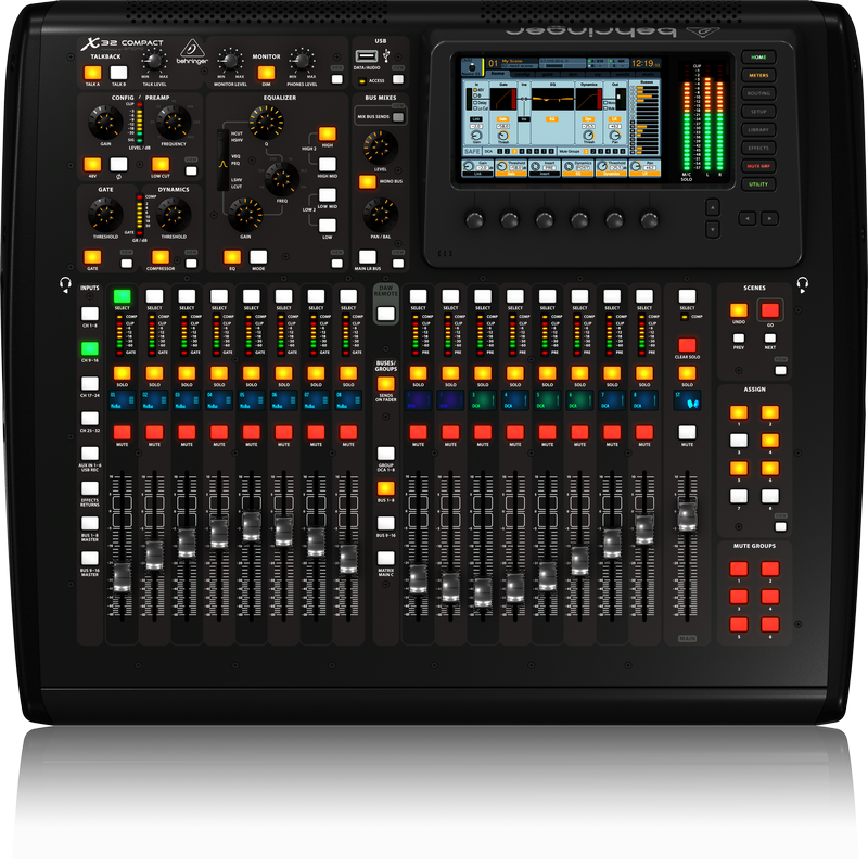 Behringer X32 Compact 40-input 25-total-bus Digital Mixer
