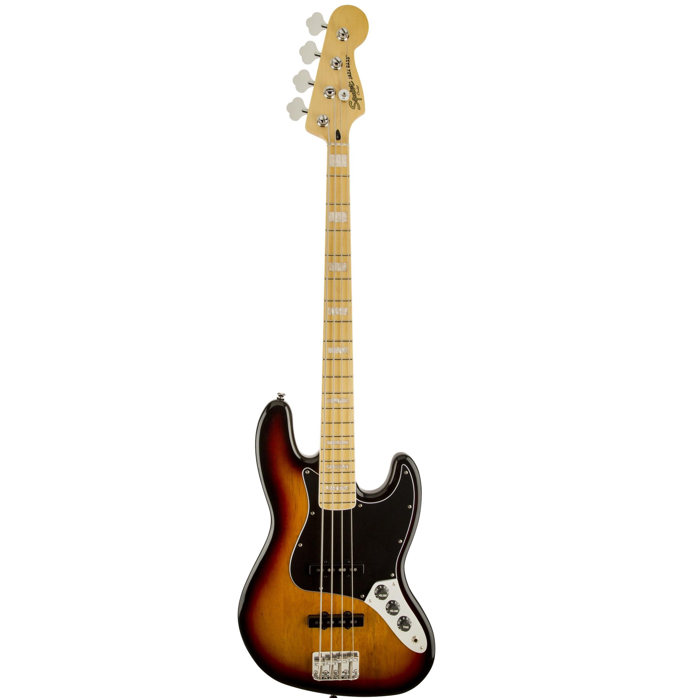 Fender Squier '77 Vintage Modified Jazz Bass - 3 Tone Sunburst