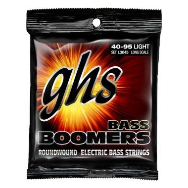 GHS RC-M3045 Round Core Boomers Medium Electric Bass Strings (45-105)