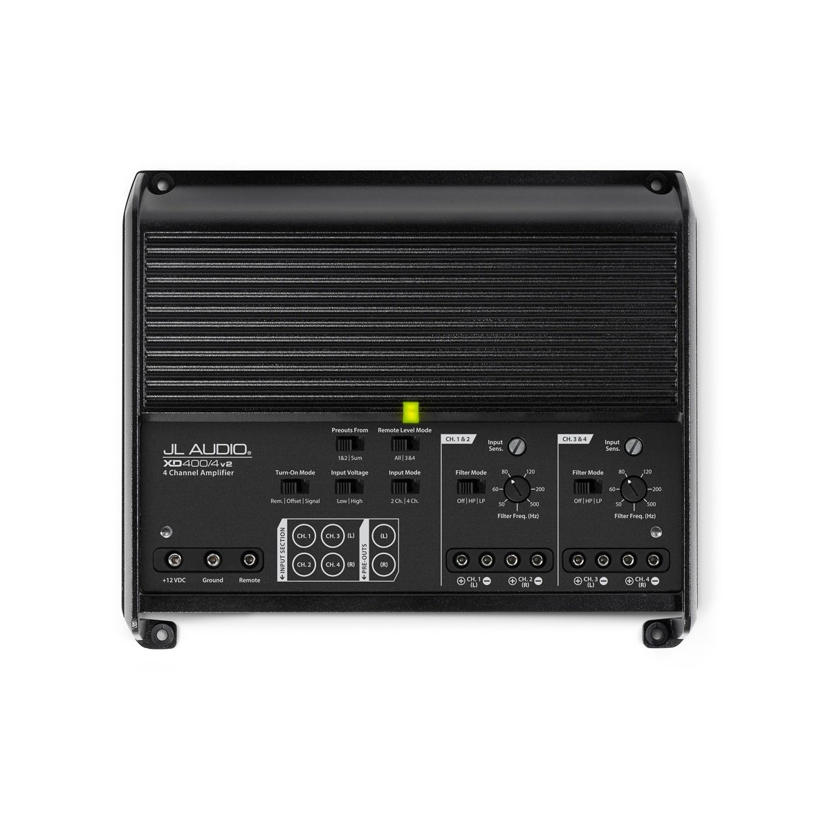 JL Audio XD400/4v2: 4 Ch. Class D Full-Range Amplifier, 400 W