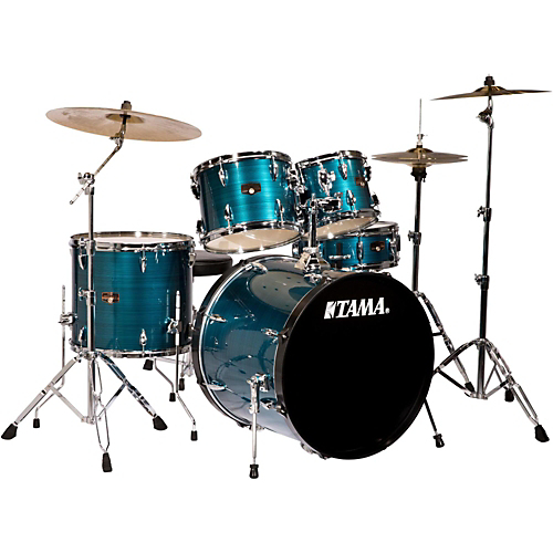 Tama Imperialstar 5-Piece Complete Drum Set with Cymbals - Hairline Blue