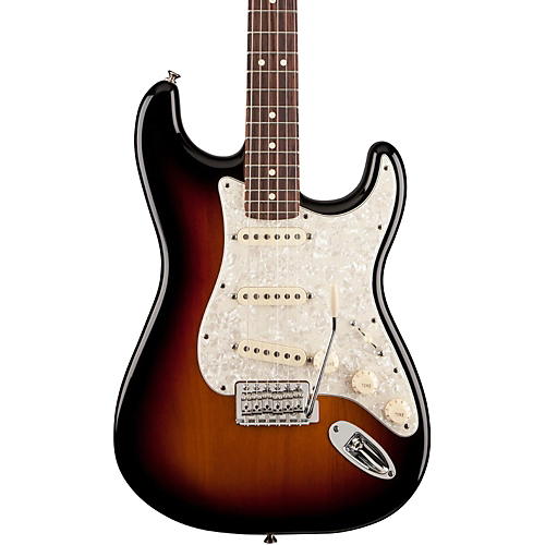 Fender Deluxe Roadhouse Stratocaster Electric Guitar- 3-Color Sunburst - Rosewood Fingerboard