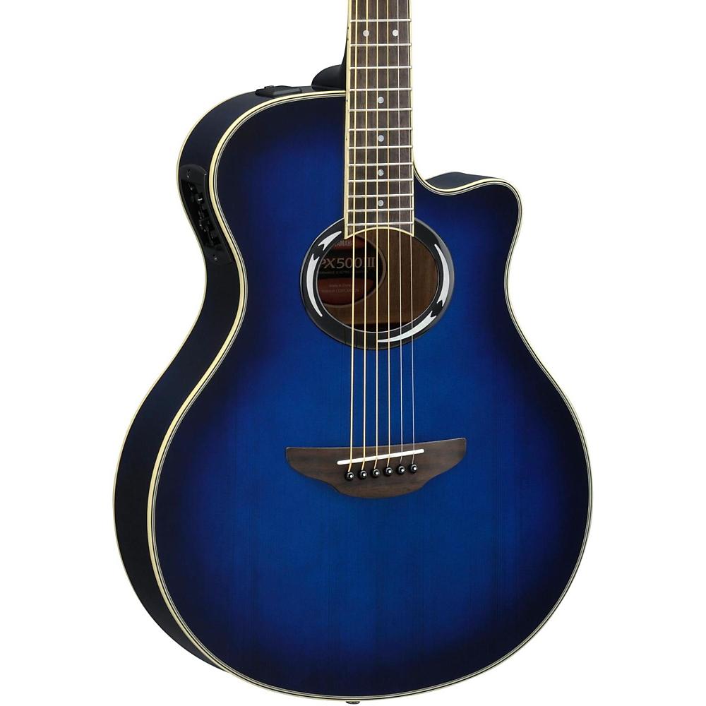 Yamaha APX500III Thinline Cutaway Acoustic Electric Guitar - Oriental Blue Burst
