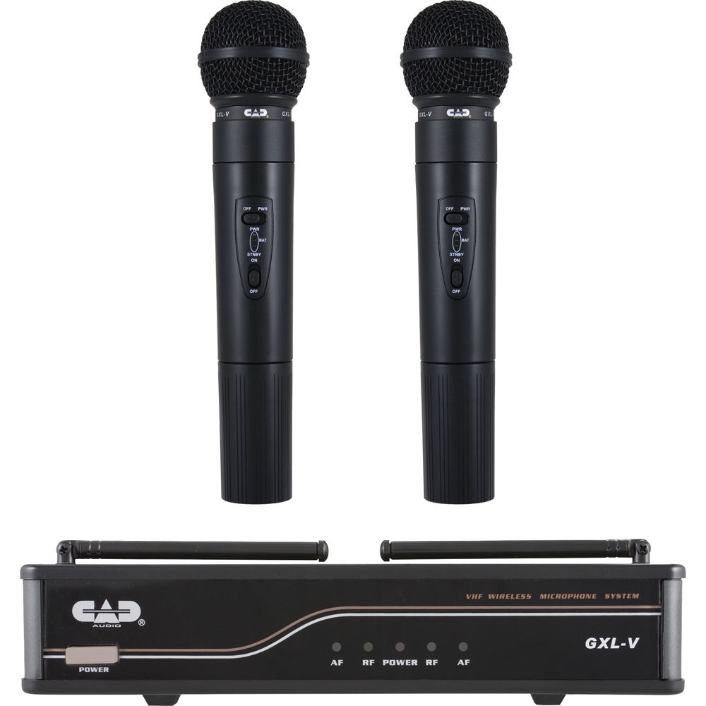 CAD Audio GXLVHHH VHF Wireless Dual Hand Held Mic System