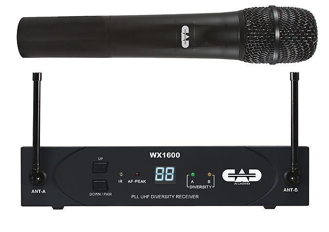 CAD WX1600 UHF 100-Channel Frequency Handheld Wireless System