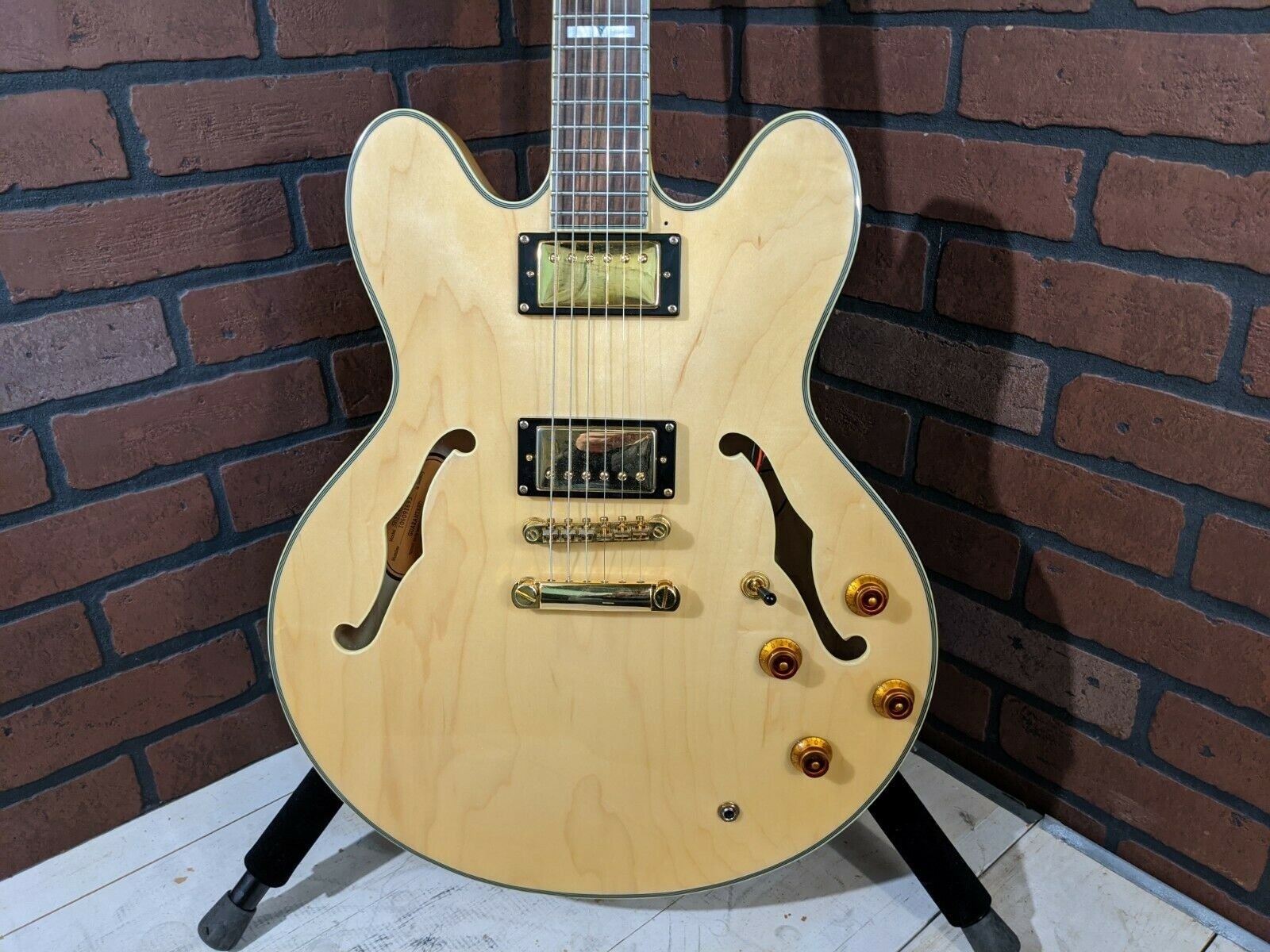 Epiphone Sheraton II Semi-Hollow Electric Guitar - Natural - USED