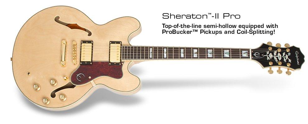 Epiphone Sheraton-II PRO Semi-hollowbody Electric Guitar - Natural