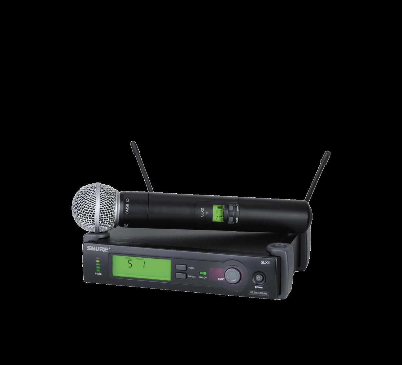 Shure SLX24/SM58 Handheld Wireless Microphone System - J3 Band