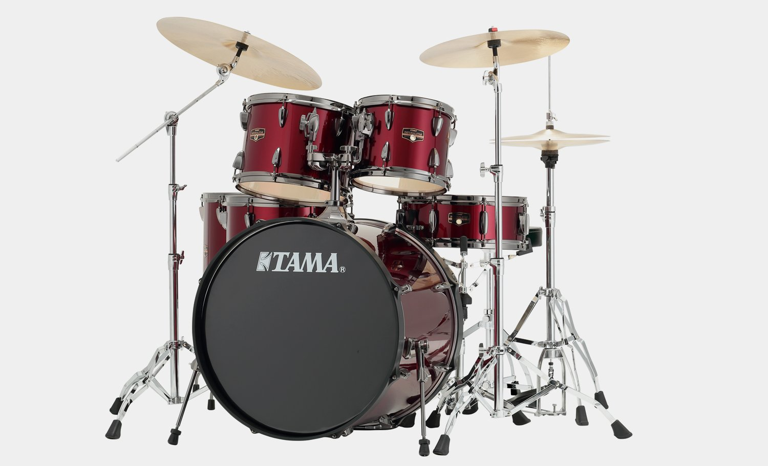 Tama Imperialstar 5-Piece Drum Set w/ Hardware and Cymbals - Vintage Red