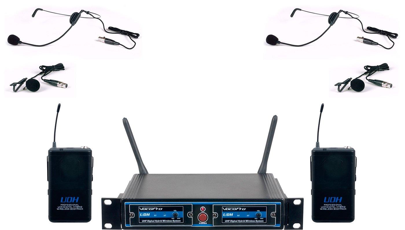 VocoPro UDH-Dual-B UHF Digital Hybrid Wireless