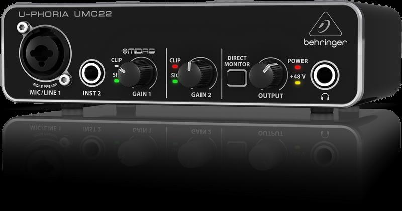 Behringer U-Phoria UMC22 Audio USB Interface