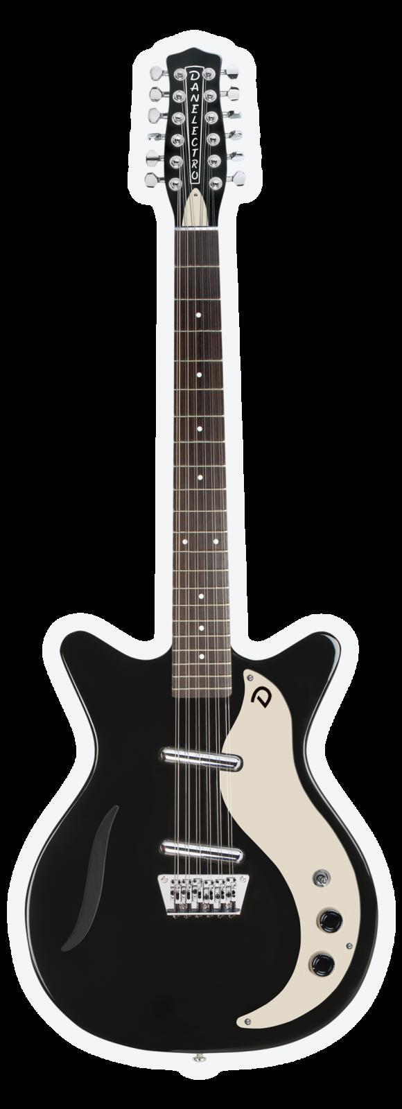 danelectro vintage 12 string electric guitar black 611820022082. Black Bedroom Furniture Sets. Home Design Ideas